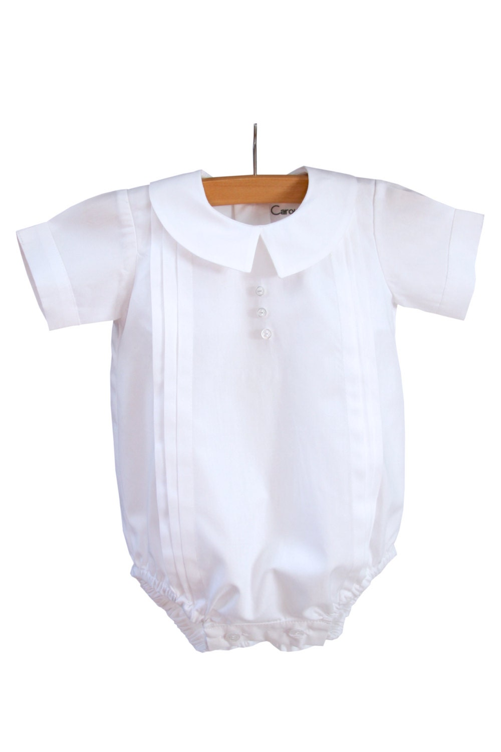 david christening dedication boys outfit bubble romper simply
