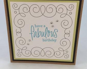 Blingy Fabulous Birthday Card