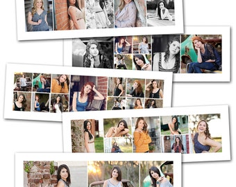 Clean 10x30 Storyboard Collage Set - Professional Photoshop Templates by Photographer Cafe