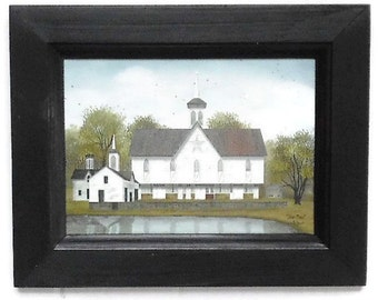 Star Barn, Barn Picture, Billy Jacobs, Art Print, Amish, Primitive Decor, Wall Hanging, Handmade, 9X7, Custom Wood Frame, Made in the USA