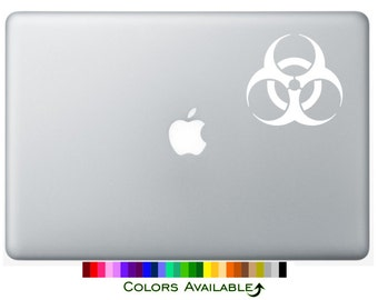 Biohazard Laptop Decal