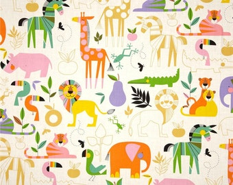 Zoo Bisou in Bright by Alexander Henry Fabrics - 8358A