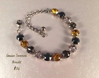 SALE!!  Swarovski Bracelet - Go Black & Gold!!!