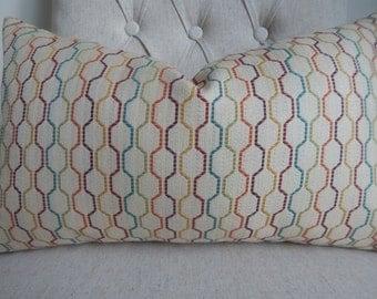 Kravet geometric tapestry pillow cover, throw pillow,accent pillow,decorative pillow,Lumbar pillow, same fabric front and back