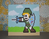 Link from Legend of Zelda Painting