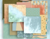 Digital Scrapbook: By The Sea Paper Pack