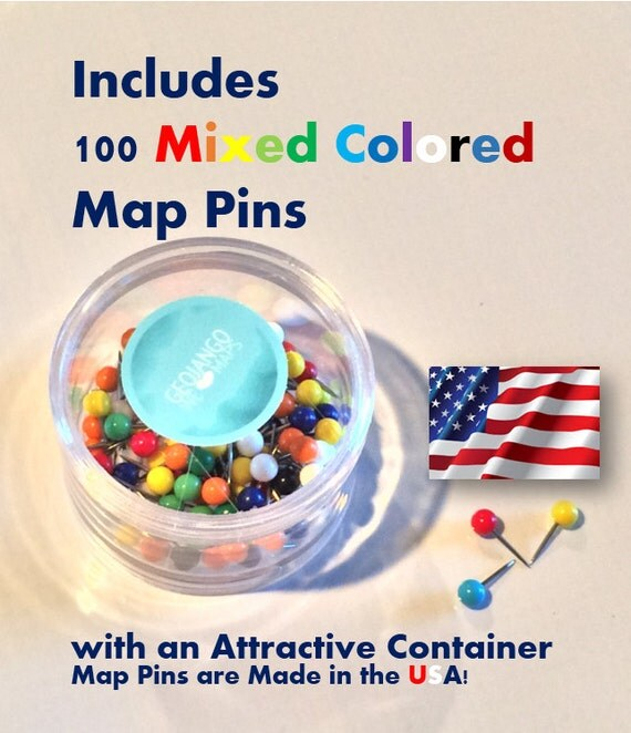 USA Map For Kids Primary Color Edition Oh The Places - Colored usa map