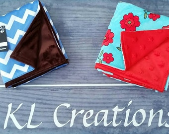 Chevron/chocolate - baby / toddler blanket