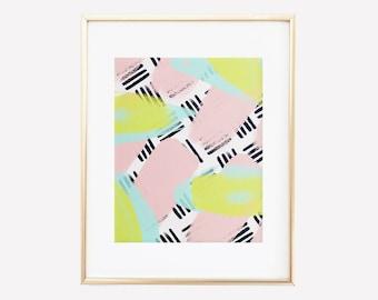 Eisley // Modern Abstract Painting // Digital Print