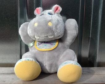 1989 Tonka ZOO BABIES Hippo Plush