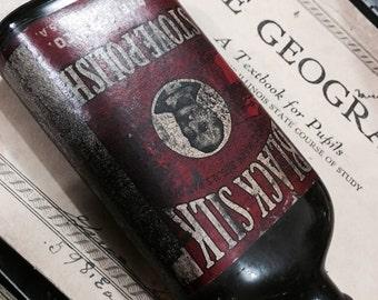 Antique Bottle of Black Silk Stove Polish