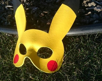 Leather Pikachu Mask Pokémon Mask  Pokémon Cosplay