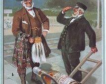 1905 Orkney Whisky Advertisement A3 Poster Reprint