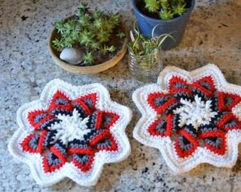 Crochet Star Trivet