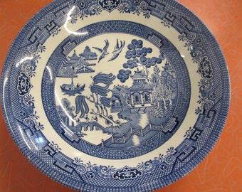 "Blue Willow 10.5"" Plate Churchill England"