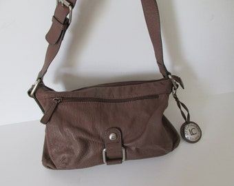 Brown Leather HandBag Designer Purse Brown Purse Liz Claiborne Purse Brown Leather Shoulder Bag