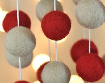SMALL Rustic Christmas Garland - Rustic Chic Garland - Rustic Christmas Garland