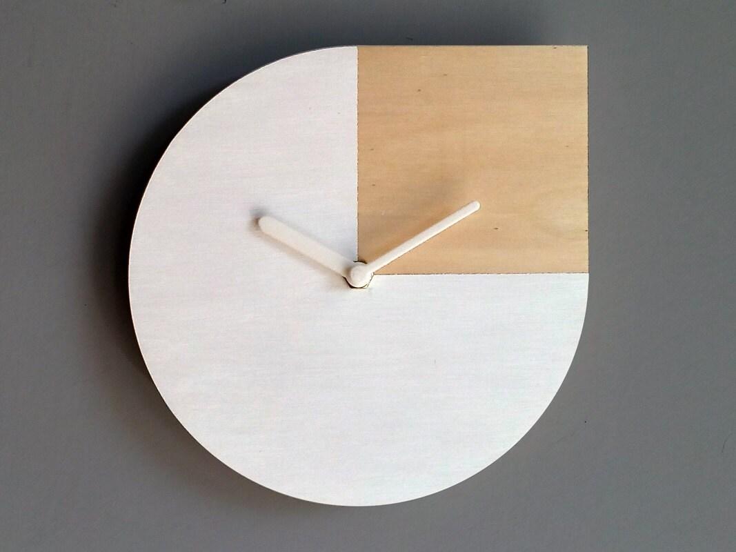 Designer Wall Clocks Online: Laser Cut Wood Wall Clock Andy Warhol Silent By