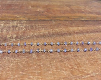 Rosary tanzanite necklace
