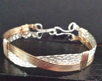 Silver And Gold Bracelet, Sterling Silver Bracelet, Gold Bracelet, Bangle Bracelet, Silver Bangle, Gold Bangle, Silver and Gold Bangle,