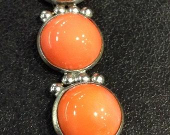 Orange chrome 1940s bracelet