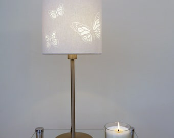 Hand Cut Butterfly Drum Lamp Shade 20cm