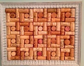 one of a kind vintage framed cork board - Framed Cork Board