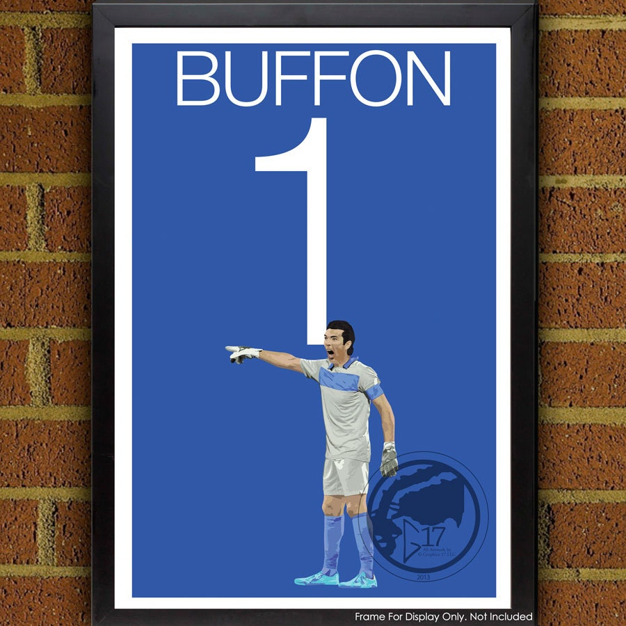 La l gende italia gianluigi buffon 1 poster italie football for Decoration murale juventus