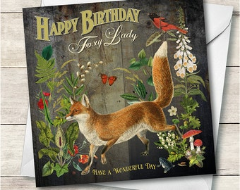 Happy Birthday Foxy Lady Card