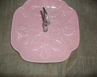 Vintage USA Pottery Serving Platter With Handle