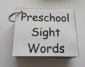 Preschool Sight Word Flash Cards, Laminated, Ready to Use, 76 Sight Words, High Frequency Words, Reading Help, Learn to Read, Flashcards