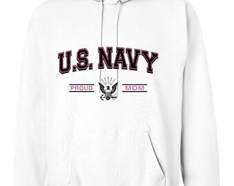 HOODIE Proud U.S. Navy Mom Soldier support