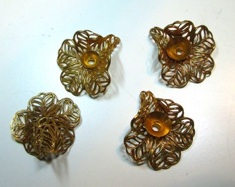 4 Cool Vintage Brass Findings