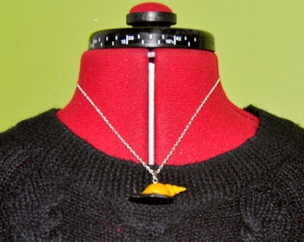 Yellow Snail Necklace