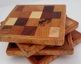 Wood Coaster set of four - End Grain (OP100-2)