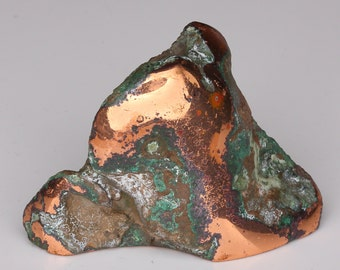 Beautiful Polished Copper Nugget With Cuprite and Malachite