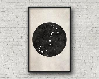 Scorpio Constellation Art, Art Print Poster, Wall Art, Scorpio Art, Zodiac Constellation, Zodiac Sign, Zodiac Art, Zodiac Print