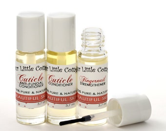 Nail and Cuticle Oil Kit,  Natural Nail Strengthener, Fingernail Serum, Nail Oil,  Nail Serum, Cuticle Care, Manicure Care, Pedicure Care,