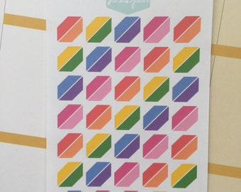 Planner Stickers Rainbow Corners