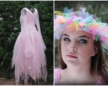 FREE SHIPPING ~ Adult Fairy Costume ~ Teen  Halloween  Party  Dress ~ Tulle Garland ~Theatre ~ Bridal ~ Sweet 16