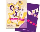 "Rapunzel Inspired Birthday Invitation | Rapunzel Birthday Invite | Rapunzel Printable - 5X7 with *bonus reverse side"""