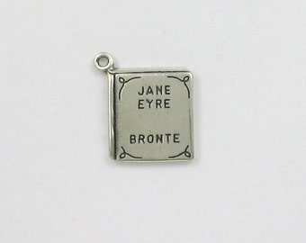 925 Sterling Silver Jane Eyre Book Charm, Books & Reading Theme - fhg135