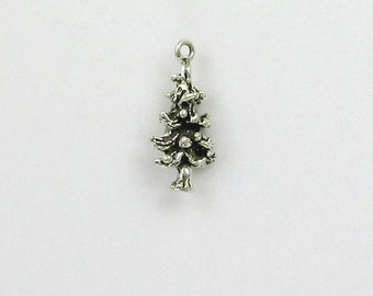 Sterling Silver 3-D Pine Tree Charm