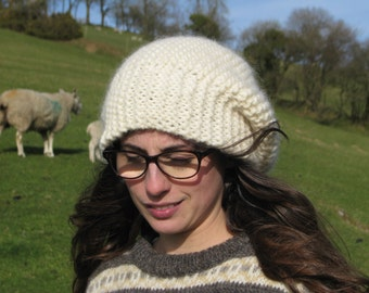 British Jacob Woolen Hand Knitted Slouchy Hat