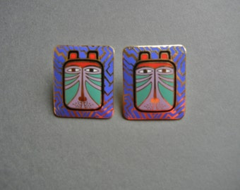 Laurel Burch Toshio Earrings, laurel burch toshio, laurel burch toshio pierced earrings, laurel burch toshio pierced, laurel burch tiger