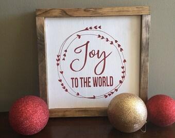 Joy to the World sign christmas sign