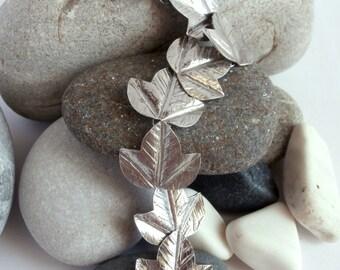 Silver Leaf Bracelet - Sterling Silver