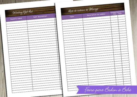 Wedding Gift Checklist : ... Gifts Guest Books Portraits & Frames Wedding Favors All Gifts