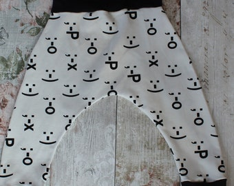 Peedie Boo 'Emoticons' Harem Style Trousers.....monochrome gorgeousness!