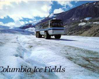 2 Unused Postcards, Columbia Ice Fields, Athabasca Glacier, Jasper National Park, Alberta, Canada, c1980s, good shape